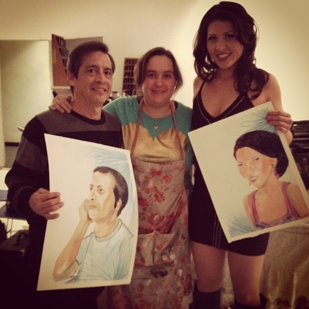 Gerard, Ms Anna, and Marisa Bucheit at their birthday party last friday at CAD West