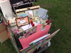 Extra goodies on my roving facepaint cart in Elmhurst last weekend.