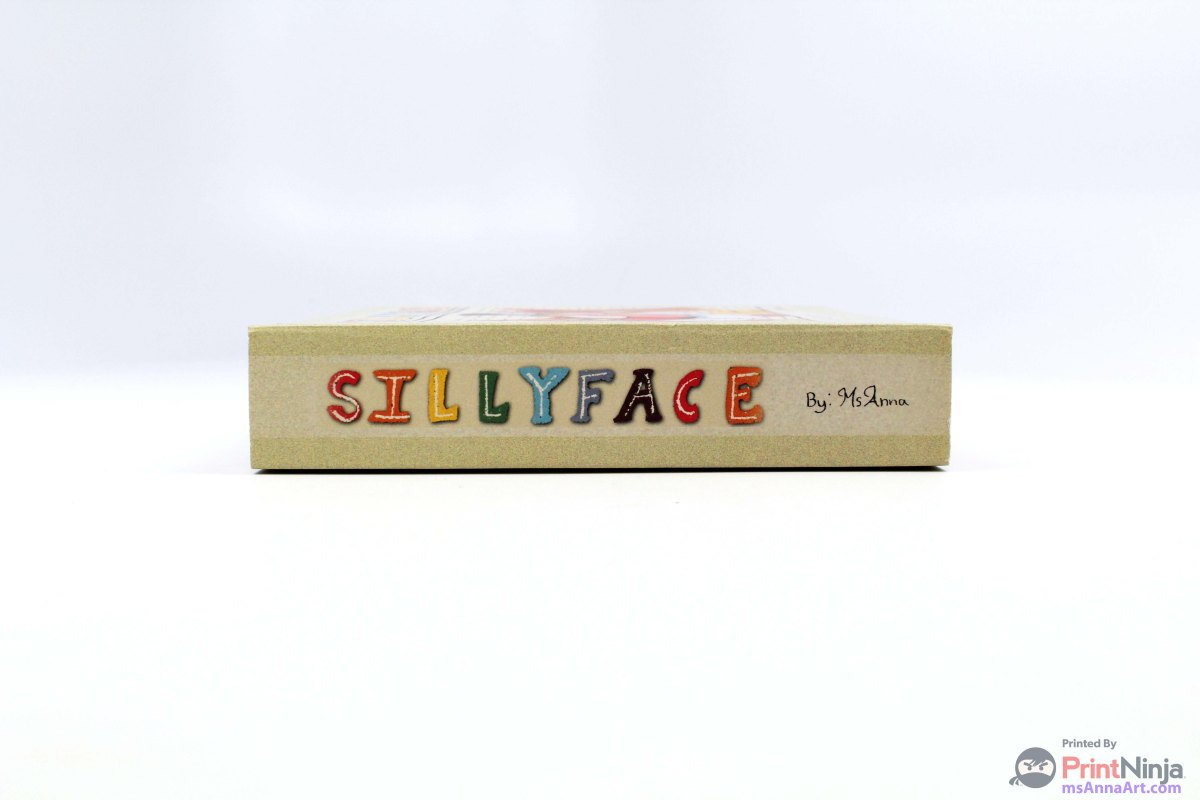 SillyFace Book Spine